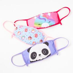 3 Pack Squishmallows™ Pastel Cotton Face Masks - Adjustable,