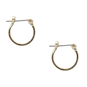 Gold 15MM Square Edge Hoop Earrings,
