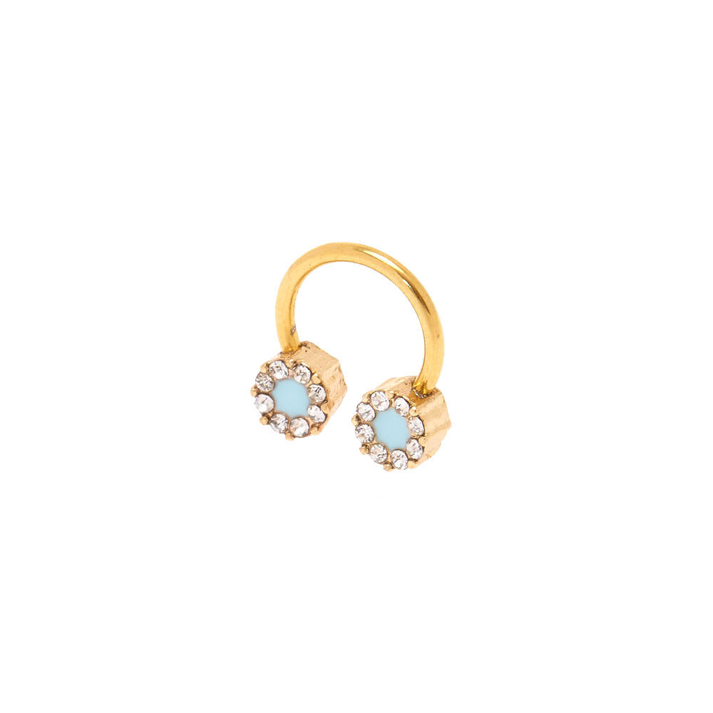 Blue Ice Gold Tragus Hoop Claires US