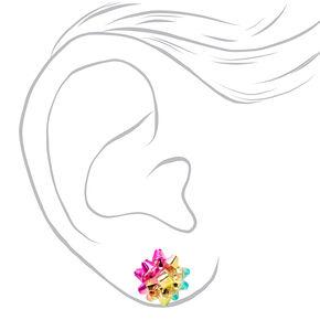 Rainbow Giftbow Stud Earrings,
