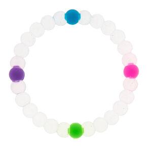 Clear Rainbow Fortune Stretch Bracelet,