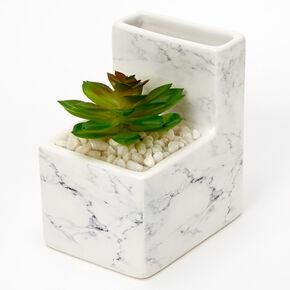 Cactus Planter Ceramic Pencil Cup - White,