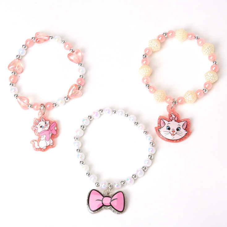 ©Disney Animals Marie Beaded Stretch Bracelets – 3 Pack,