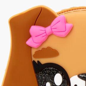 Glitter Puppy Jelly Coin Purse - Brown,