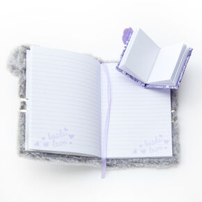Sidney the Koala Furry Lock Diary - Gray,