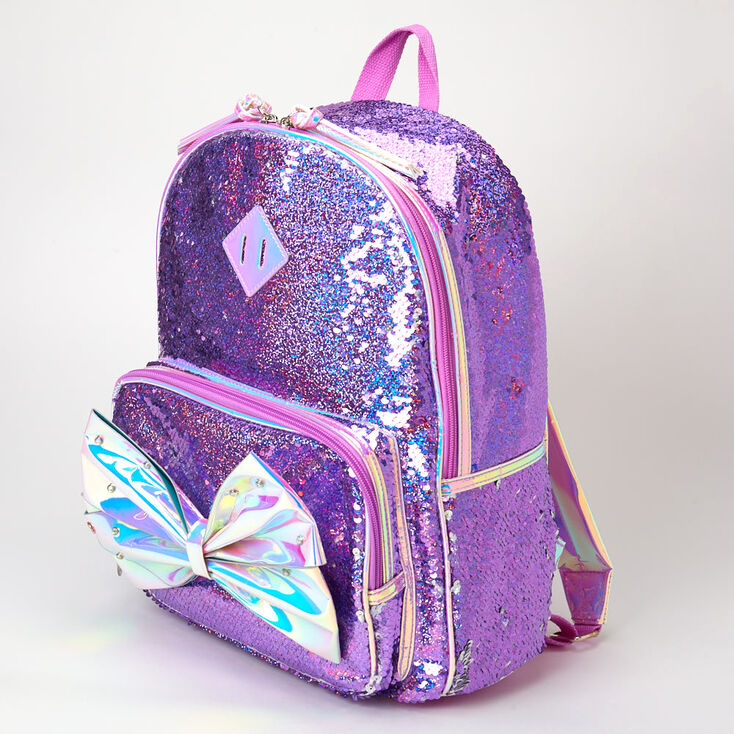 Jojo Siwa Reversible Sequins Medium Backpack – Purple,