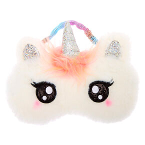 Claire's Club Pastel Unicorn Sleeping Mask - White,