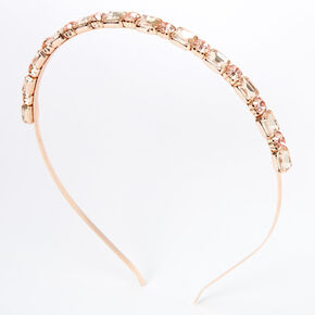 Rose Gold Chunky Rhinesone Headband,