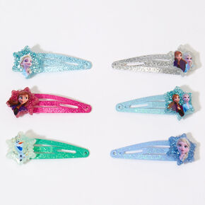 ©Disney Frozen 2 Small Glitter Snap Hair Clips – 6 Pack,