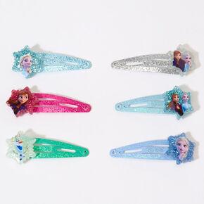 Petites barrettes clic clac pailletées La Reine des Neiges2 ©Disney - Lot de 6,