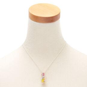Rainbow Donut Bottle Pendant Necklace,