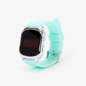 Solid Silicone LED Watch - Mint,