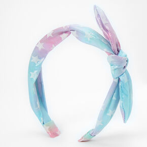 Pastel Star Knotted Bow Headband,