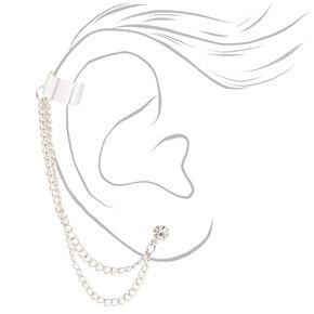 Boucles d'oreille à chaîne couleur argenté,