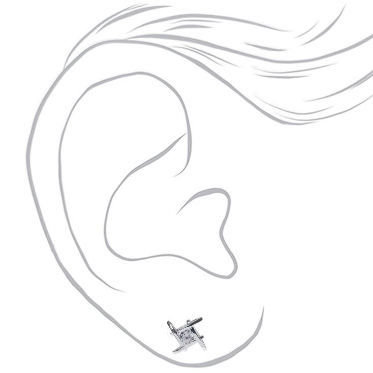Criss Cross Cubic Zirconia Earrings,