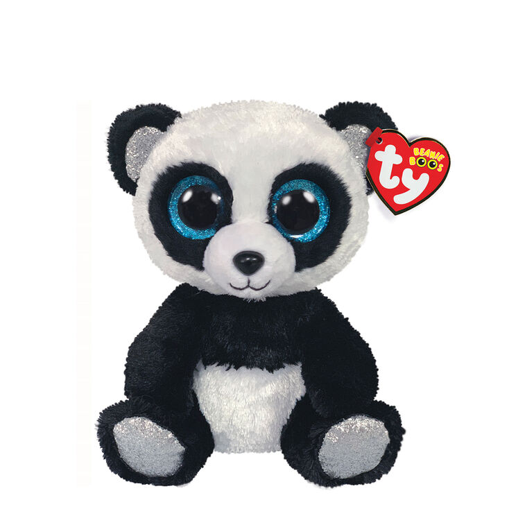Ty Beanie Boo Small Bamboo the Panda Soft Toy,