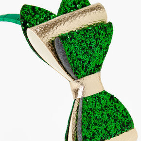 Satin Glitter Headband - Green,