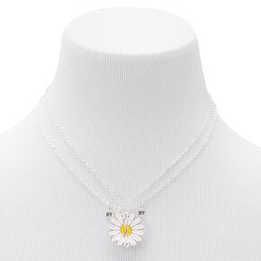 Best Friends Split Flower Pendant Necklaces - 2 Pack,