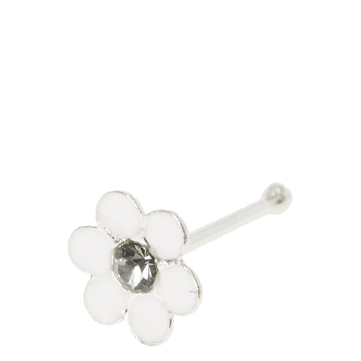 Sterling Silver Daisy Nose Stud,