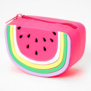 Watermelon Slice Jelly Coin Purse - Pink,
