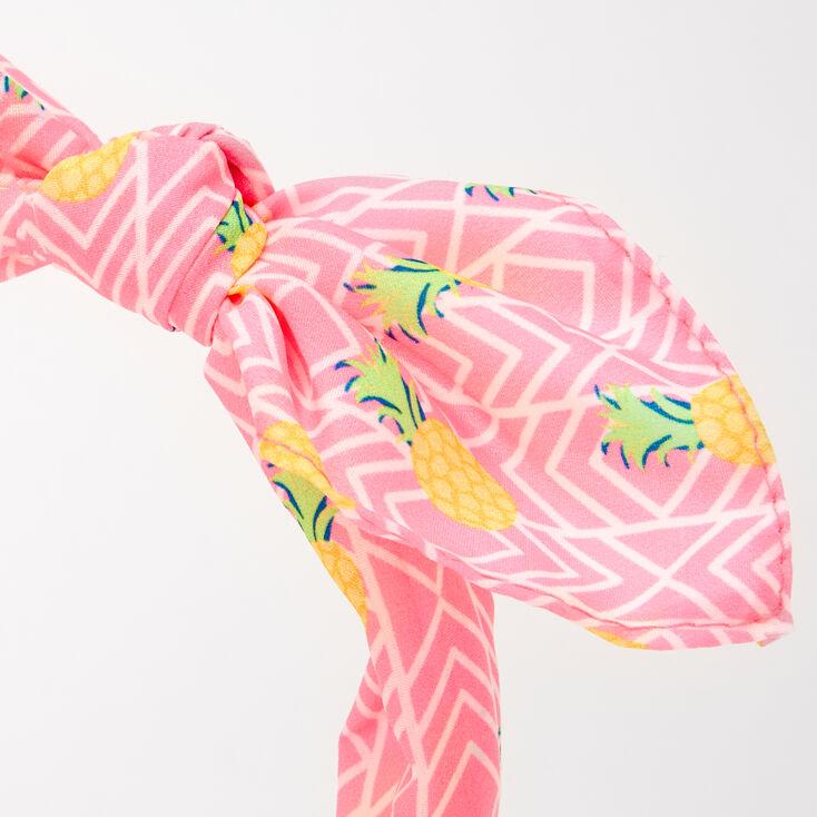 Serre-tête à nœud noué imprimé ananas,