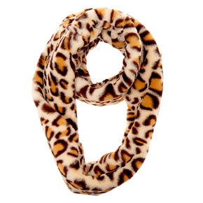 Go to Product: Faux Fur Leopard Print Infinity Scarf - Brown from Claires