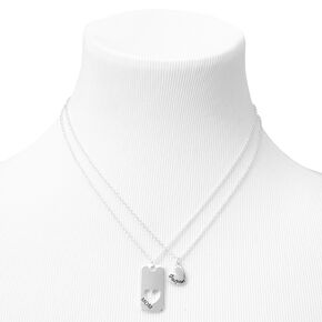 Mother Daughter Heart Cut Out Pendant Necklaces - 2 Pack,