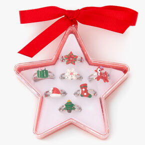 Holiday Star Box Rings - 7 Pack,