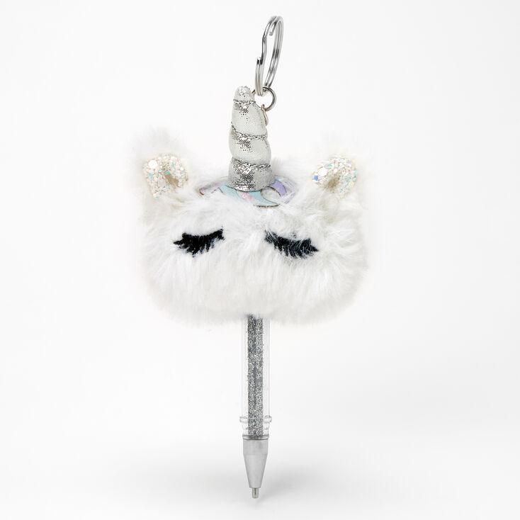 Unicorn Mini Keychain Pen - White,