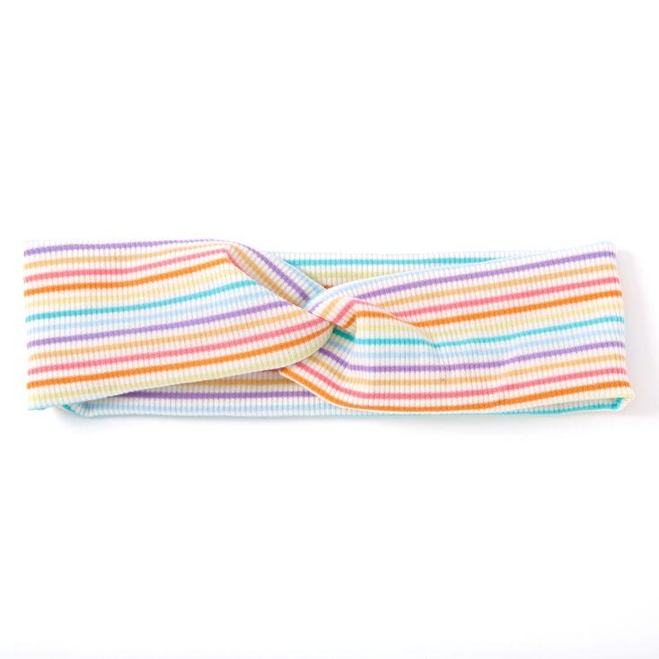 Rainbow Striped Twisted Headwrap,