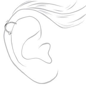 Boucle d'oreille pour piercing de cartilage torsadée boule de feu avec strass 1,2mmcouleur argentée,
