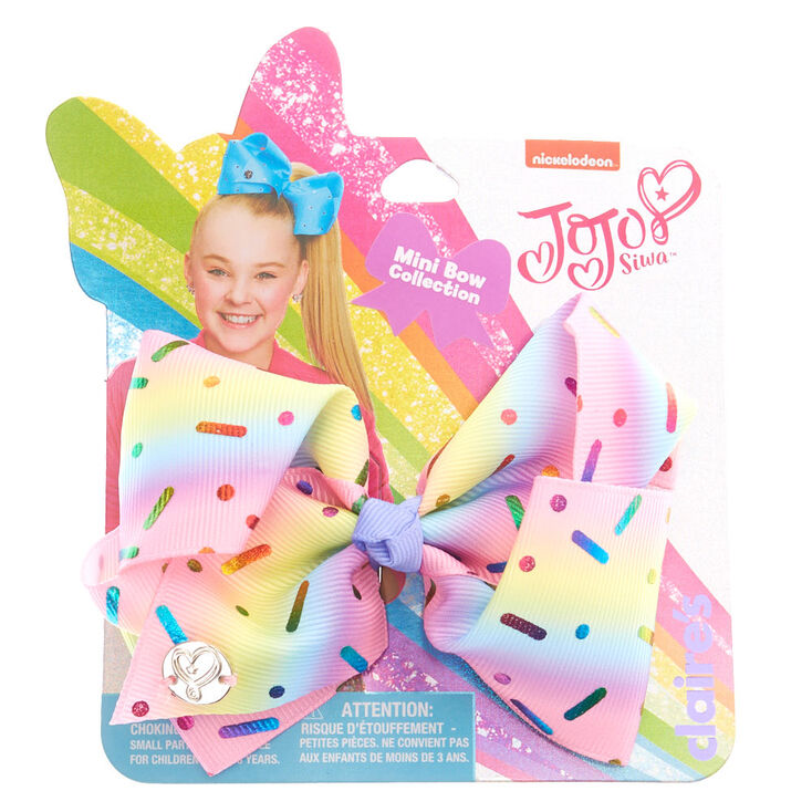 e909ae1d0 JoJo Siwa™ Rainbow Sprinkles Mini Hair Bow   Claire's