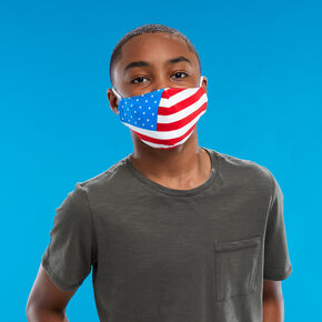 Cotton American Flag Face Mask - Adult,
