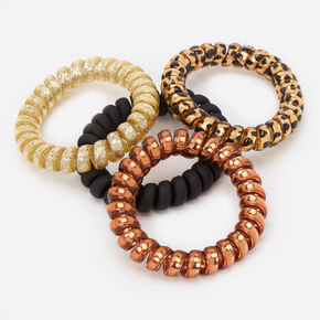 Animal Chic Spiral Hair Ties - 4 Pack,