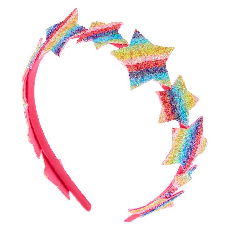 claire's club glitter star headband - rainbow