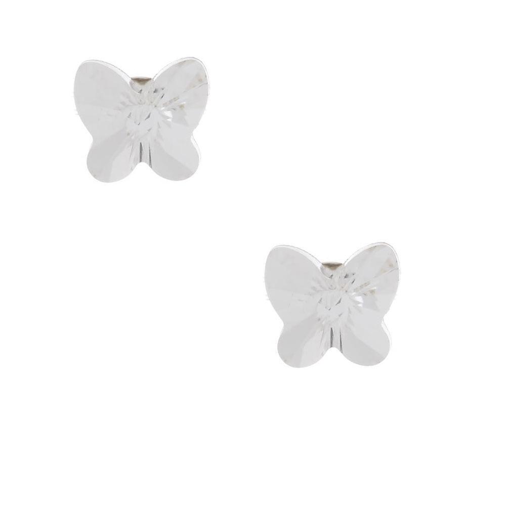 Sterling Silver Swarovski Elements Crystal Butterfly Earrings
