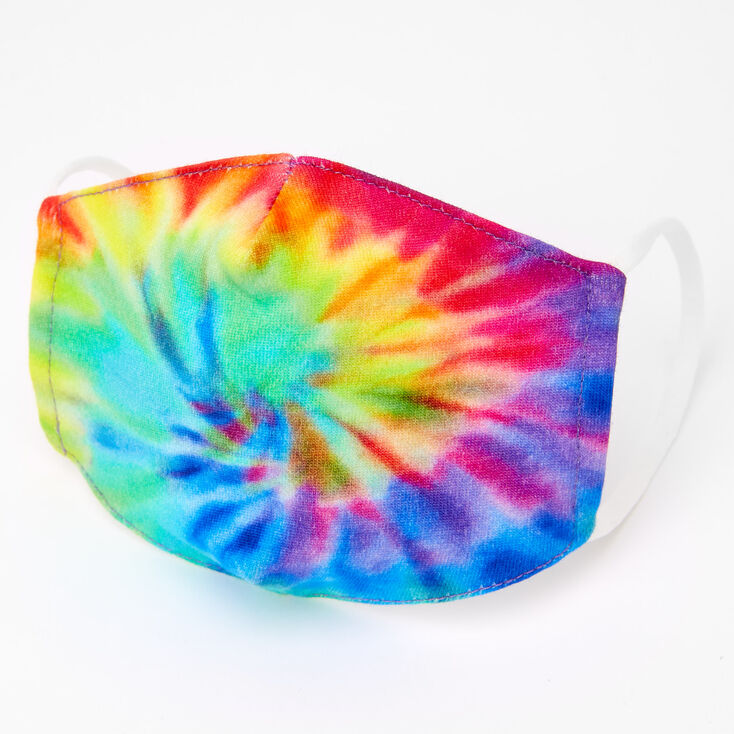 Cotton Rainbow Tie Dye Face Mask - Child Small,