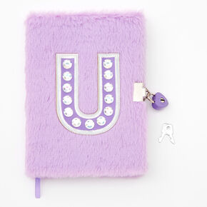 Giant Initial Furry Lock Diary - U,