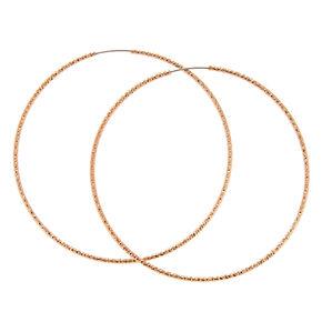 Rose Gold 60MM Textured Hoop Earrings,