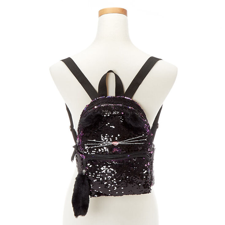 Reversible Sequin Cat Mini Backpack,
