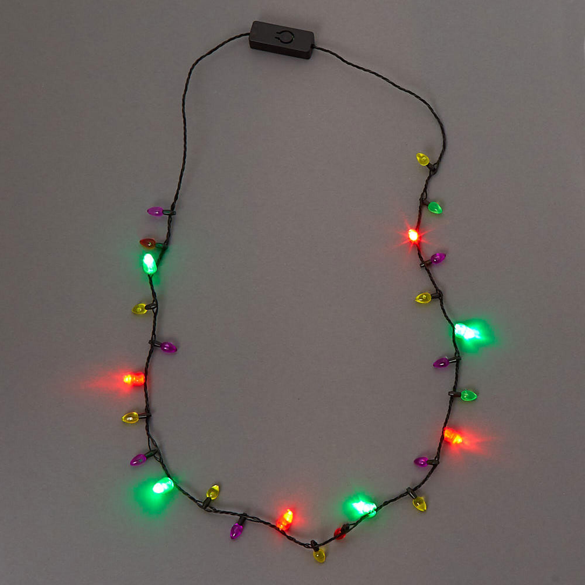 Mini Christmas Lights Light Up Necklace