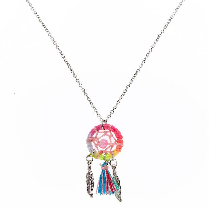 Rainbow Dreamcatcher Necklace Claire's Impressive Dream Catcher Necklace Philippines