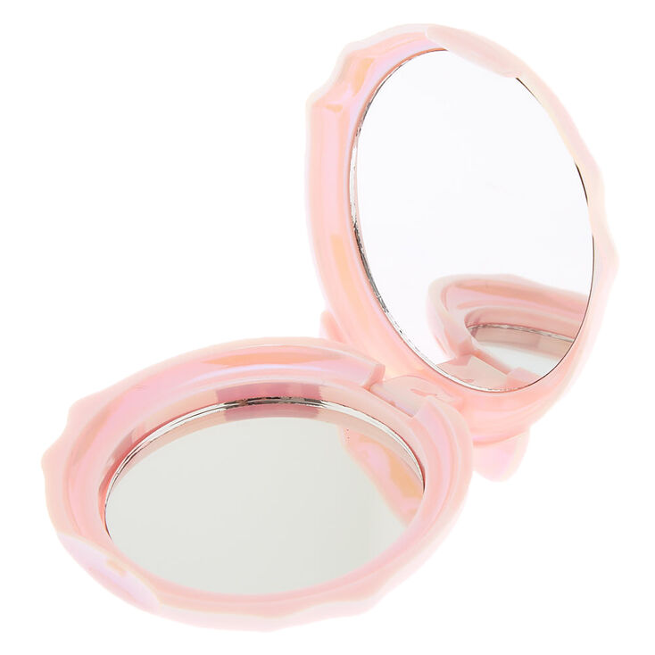 Holographic Cat Compact Mirror - Pink,