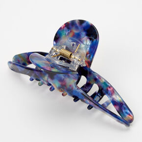 Cosmic Blue Marble Thin Hair Claw,