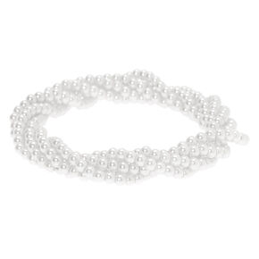 Pearl Twist Stretch Bracelet - White,