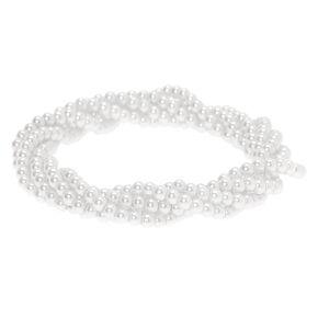 Pearl Twist Stretch Bracelet - White,