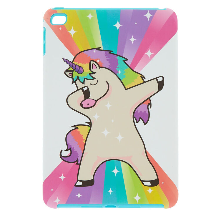 finest selection 37051 708e2 Rainbow Rock Star Dabbing Unicorn iPad Mini Protective Case