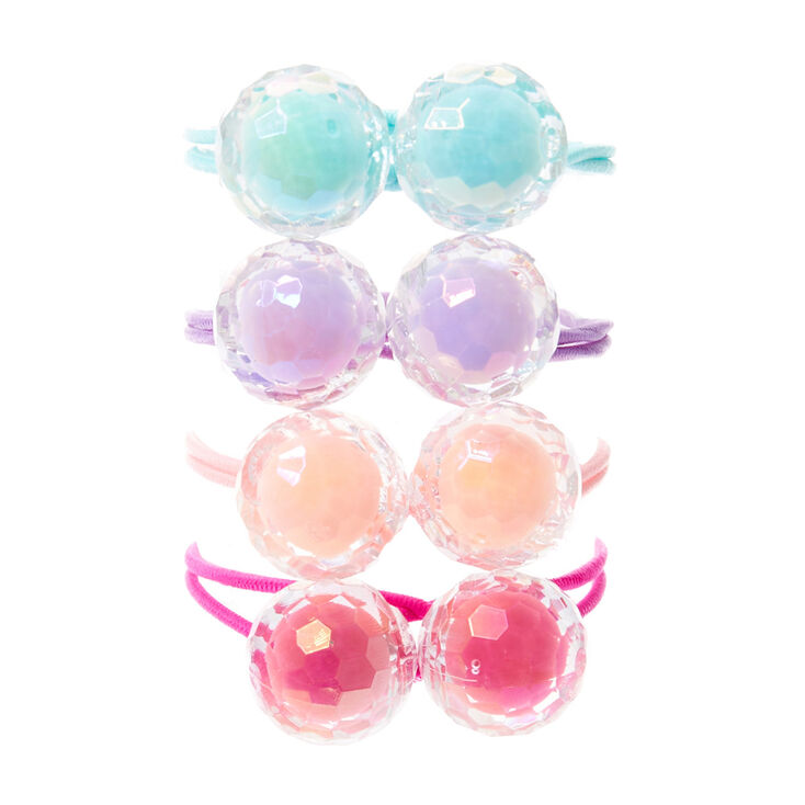Claire's Club Knocker Beads Hair Bobbles - 4 Pack,