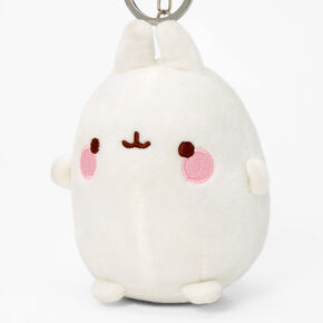 Molang™ Bunny Keychain Clip - White,