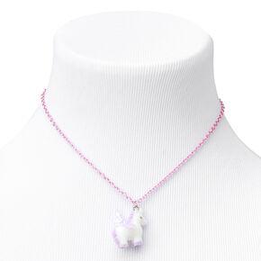 Claire's Club Fuzzy Unicorn Jewelry Set - Lilac, 2 Pack,